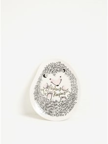 Farfurie ceramica crem deschis in forma de arici - Disaster Over The Moon Hedgehog