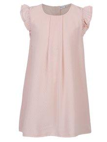 Světle růžové holčičí vzorované šaty name it Ibby