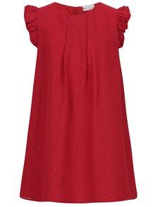 Červené holčičí vzorované šaty name it Ibby