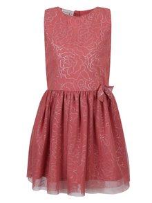 Růžové holčičí květované šaty name it Isola