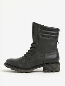 Čierne zimné členkové topánky Tamaris