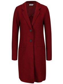 Červený kabát s prímesou vlny ONLY New Ella