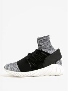Pantofi sport alb & negru cu textil melanj pentru barbati - adidas Originals Tubular