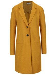 Žltý kabát s prímesou vlny ONLY New Ella