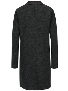 Pardesiu gri inchis din amestec de lana - ONLY New Ella