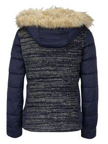 Tmavě modrá bunda s odnímatelnou kapucí Desigual Bean