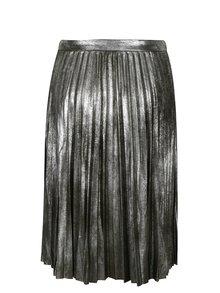 Metalická plisovaná sukňa v striebornej farbe ONLY Joyce