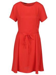 Červené šaty s krátkým rukávem ONLY Riga