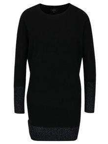 Černé svetrové šaty s třpytivými detaily ONLY Lily