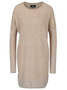Béžové svetrové šaty s třpytivými detaily ONLY Lily