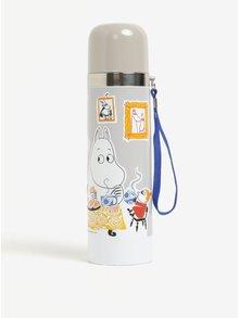 Sivá termoska s Mumínkami Disaster Moomin Tea