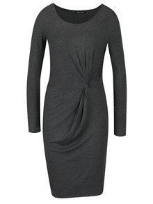 Tmavosivé šaty s nazberkaním ONLY Rina