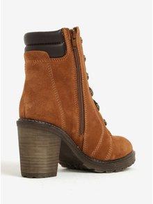 Hnedé semišové členkové vodovzdorné topánky Tamaris