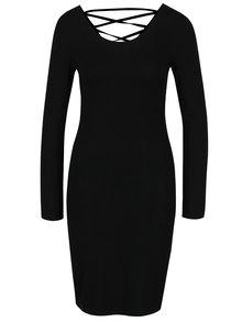 Černé šaty se šněrováním na zádech ONLY Rina String