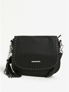 Černá crossbody kabelka s třásní a koženými detaily Liberty by Gionni Lyla