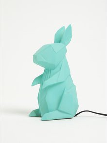 Lampa LED turcoaz in forma de iepuras origami - Disaster Rabbit