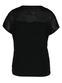Bluza neagra cu paiete si spate partial transparent - ONLY Zille