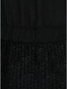 Čierne šaty so stojačikom a čipkovanou sukňou Jacqueline de Yong Bonsai