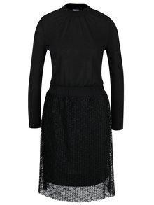 Rochie neagra cu dantela plisata - Jacqueline de Yong Bonsai