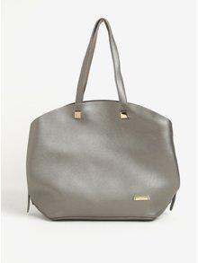 Metalický shopper ve stříbrné barvě s pouzdrem 2v1 Liberty by Gionni Lorraine