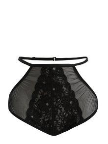 Černé kalhotky s vysokým pasem Eden Lingerie