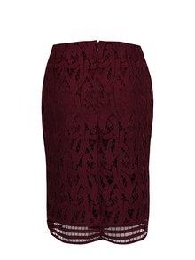 Vínová puzdrová čipková sukňa VERO MODA Exclusive