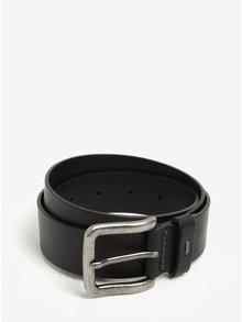 Černý pánský kožený pásek s.Oliver