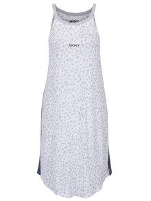 Šedo-krémová vzorovaná noční košile DKNY