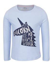 Svetlomodré dievčenské tričko s jednorožcom Tom Joule