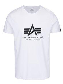 Tricou alb cu print logo ALPHA INDUSTRIES