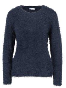 Tmavomodrý chlpatý sveter Jacqueline de Yong Kane