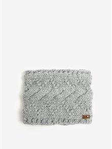 Světle šedý dámský nákrčník Roxy Winter Collar