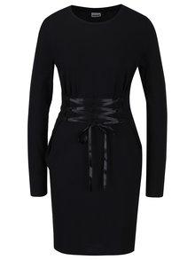 Čierne šaty s ozdobným šnurovaním Noisy May Philippa