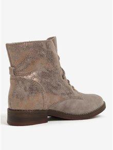 Sivé dámske semišové zimné členkové topánky s.Oliver