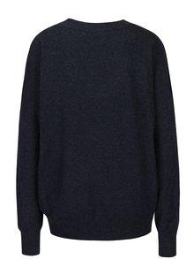 Tmavomodrý sveter s véčkovým výstrihom VERO MODA Calexico