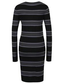 Sivo-čierne pruhované šaty s dlhým rukávom VERO MODA Sassy