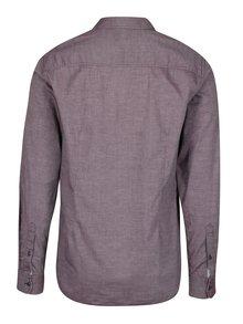Vínová pánska slim fit košeľa s jemným vzorom s.Oliver