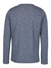 Bílo-modré pánské pruhované regular fit tričko s.Oliver