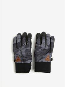 Černo-šedé klučičí vzorované funkční rukavice Quiksilver Method Youth