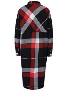 Čierno-červené kockované košeľové šaty Noisy May Erik