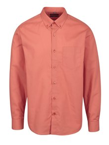 Oranžová formální slim fit košile Braiconf Baltazar