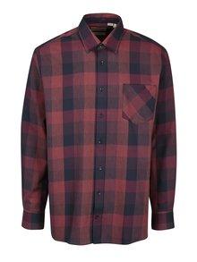 Modro-vínová kockovaná comfort fit košeľa JP 1880