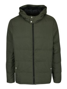 Khaki prošívaná bunda s kapucí Original Penguin Insulated