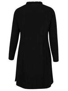 Černé mikinové šaty s kapsami Ulla Popken