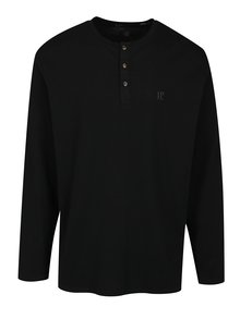 Bluza neagra cu nasturi din bumbac -  JP 1880