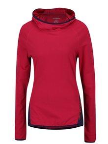 Fialovo-červené sportovní tričko s kapucí Desigual Sport