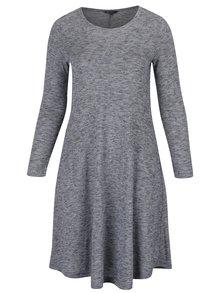 Tmavě modré žíhané šaty s dlouhým rukávem Ulla Popken