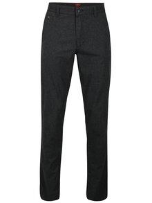 Tmavě šedé pánské regular fit chino kalhoty s.Oliver