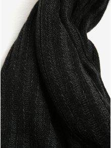 Tmavosivý dámsky rebrovaný dlhý šál s.Oliver