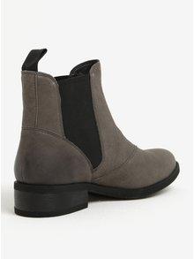 Sivé dámske kožené chelsea topánky Vagabond Cary